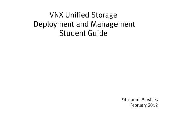 Array - vnx unified storage deployment and management student guide      rh   itedubook wordpress com